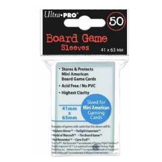 Board Game Sleeves Mini American - 41 x 63mm (50 Stück)