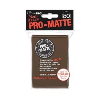 Ultra Pro: Pro-Matte Sleeves Brown (50)